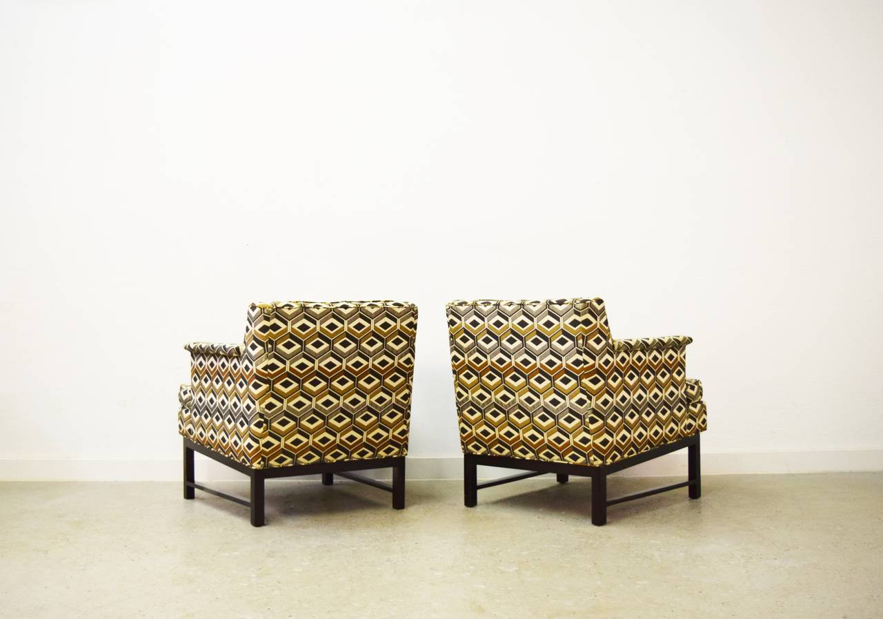 American Pair of Edward Wormley for Dunbar Lounge Chairs For Sale