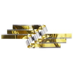 Curtis Jere Large Ribbon Wall Sculpture