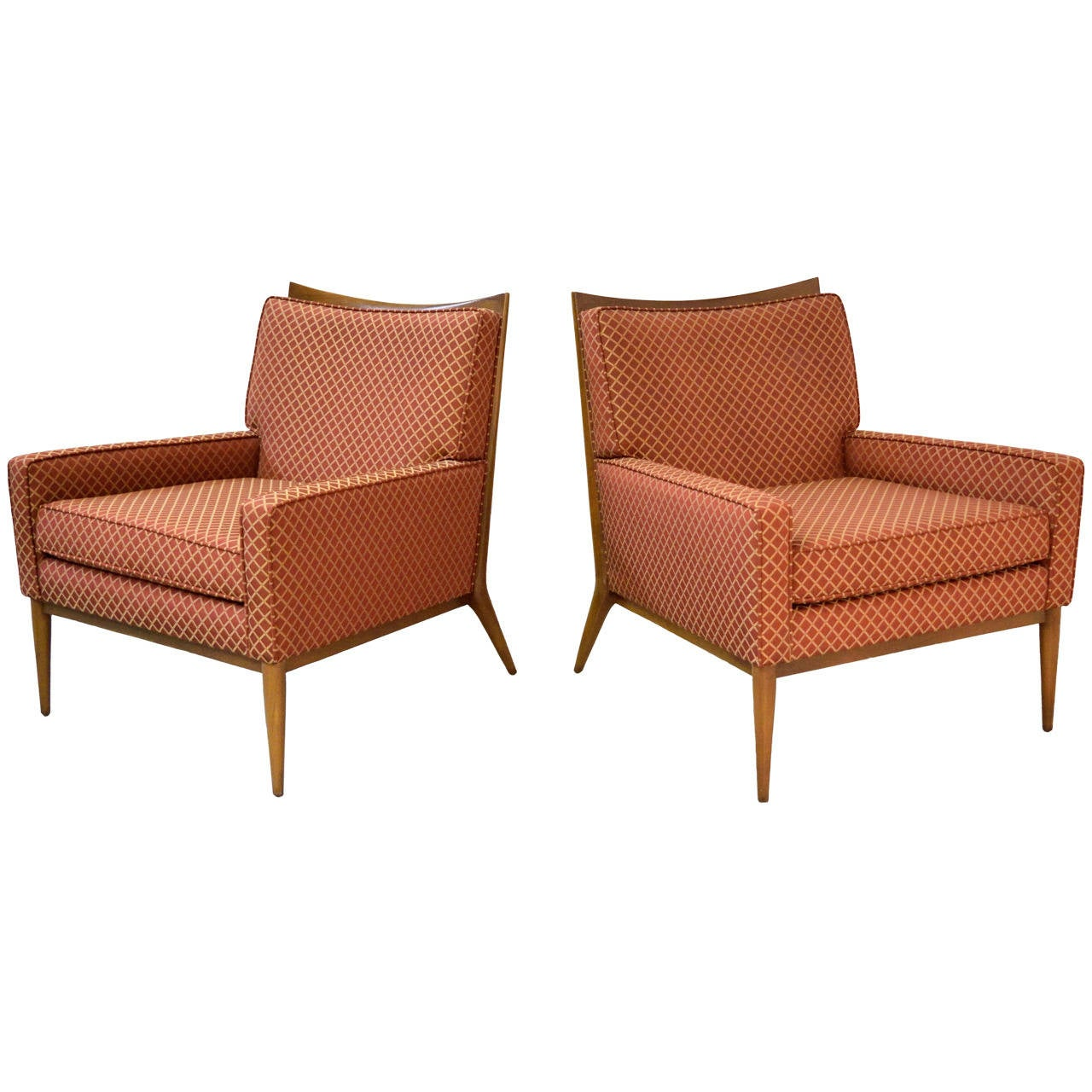 Pair Of Paul Mccobb For Directional Lounge Chairs At 1stdibs
