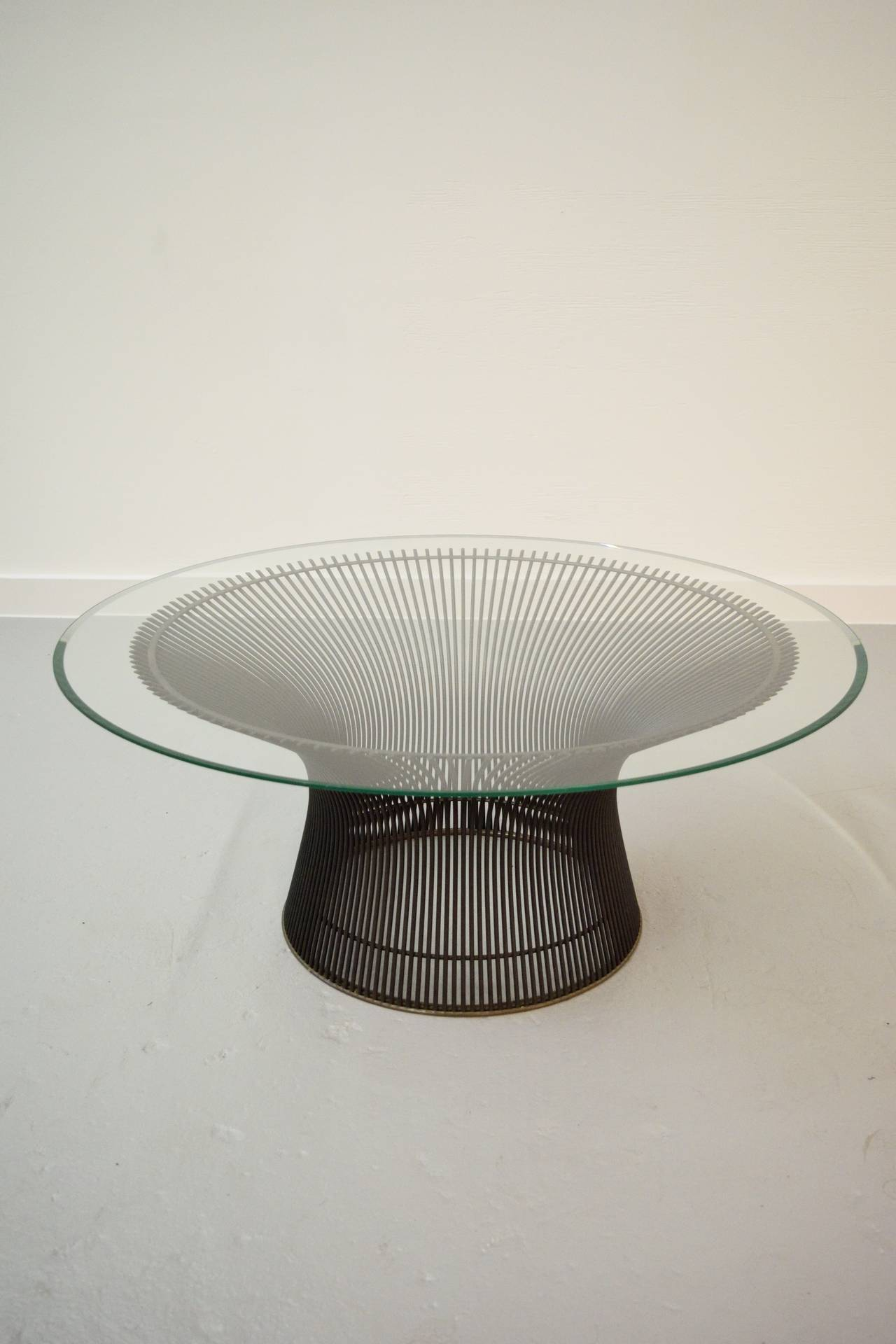 warren platner bronze coffee table for sale at 1stdibs