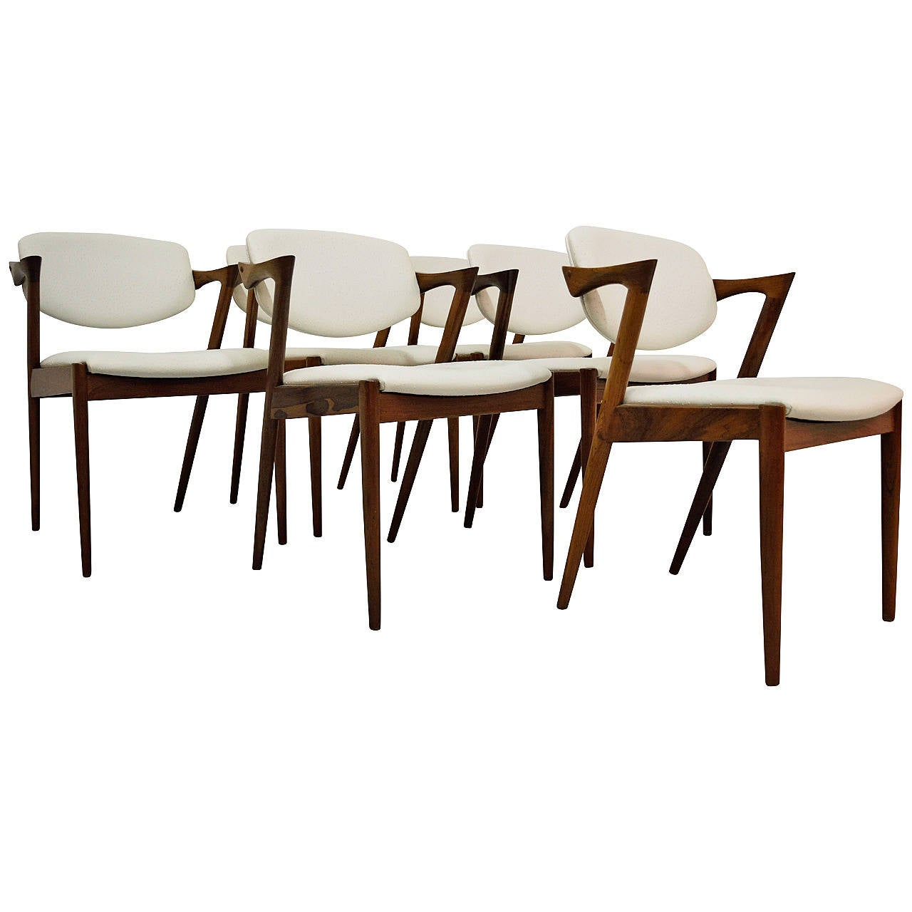 Six kai kristiansen rosewood dining chairs at 1stdibs - Rosewood dining room furniture ...