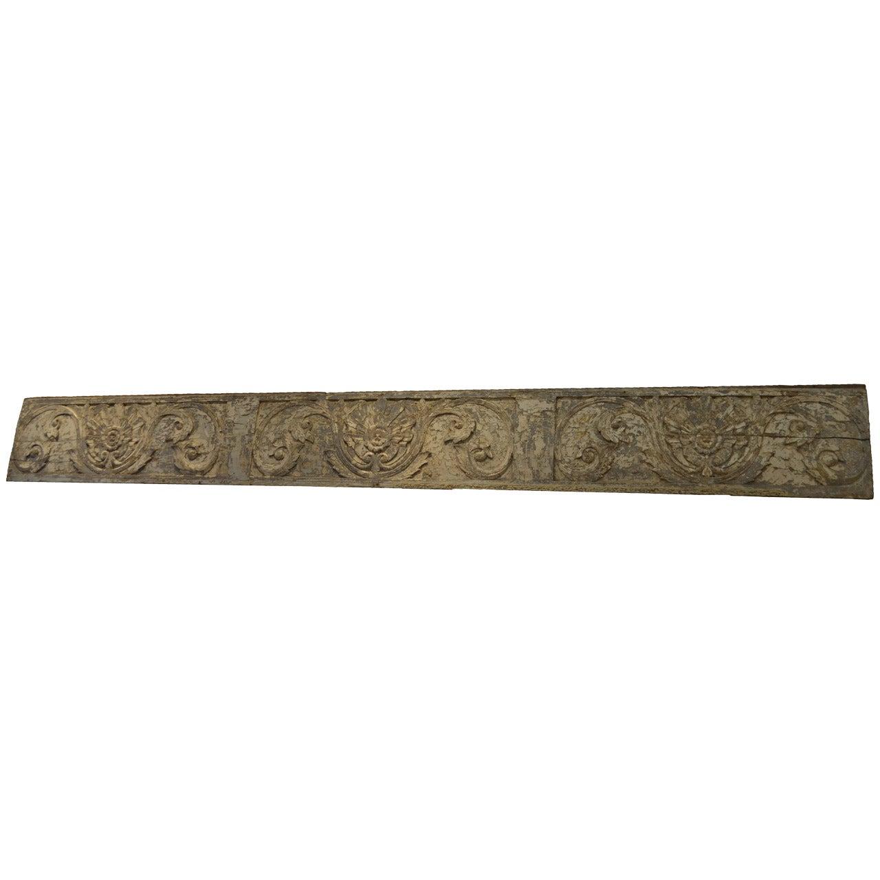 Andrianna Shamaris Hand-Carved Teak Wood Panel