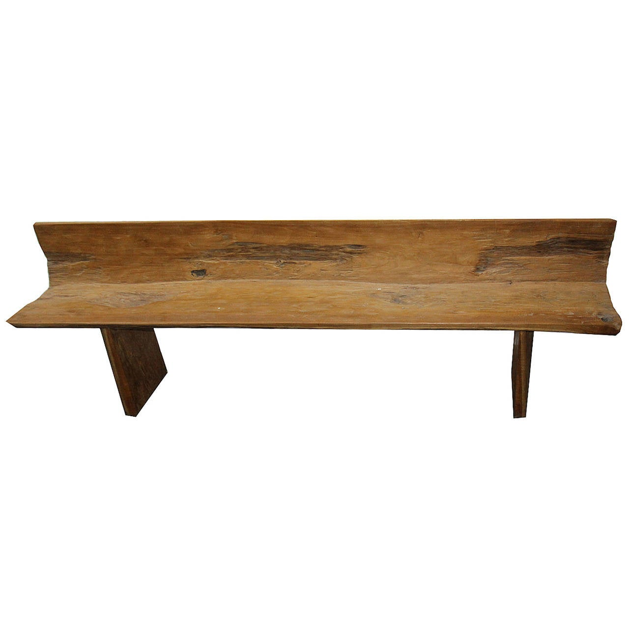 primitive teak bench at 1stdibs