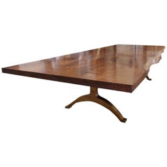 Andrianna Shamaris Walnut Dining Table with Bronze Legs