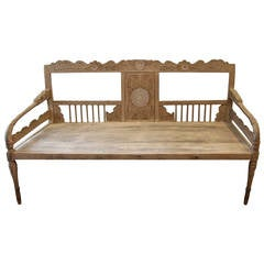 Hand-Carved Teak Wood Colonial Daybed
