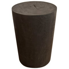 Andrianna Shamaris Triple Burnt Teak Wood Side Table