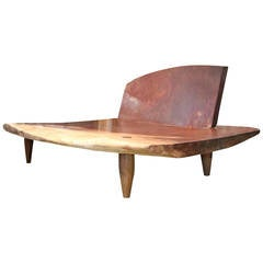 Museum Quality Mahoni Wood Daybed