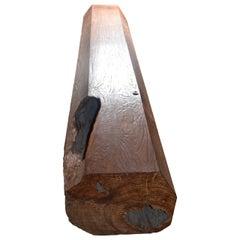 Andrianna Shamaris Solid Teak Wood Log Bench with a Modern Shape