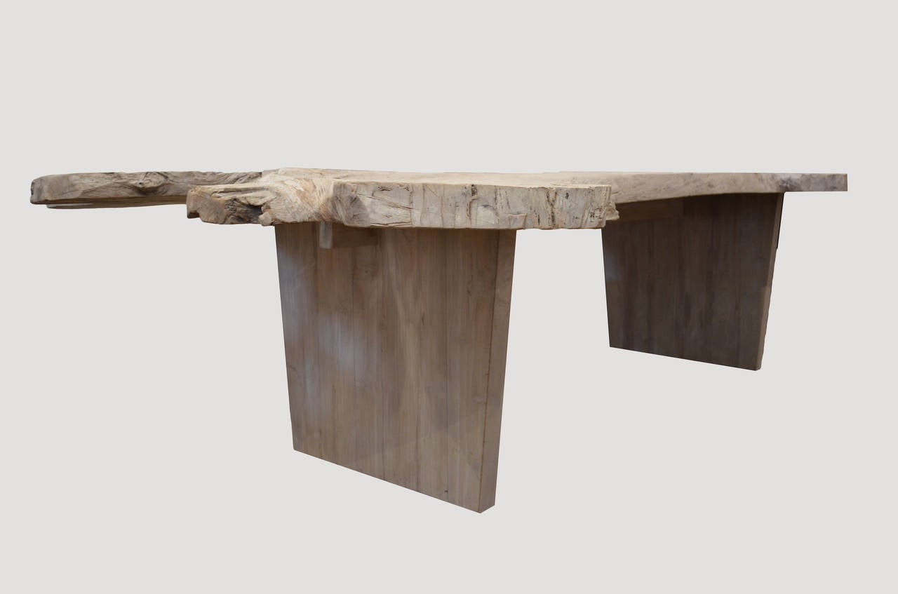 Organic Teak Wood 39 Angel 39 Dining Table For Sale At 1stdibs