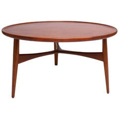 Ejnar Larsen & Aksel Bender Madsen Circular Coffee Table