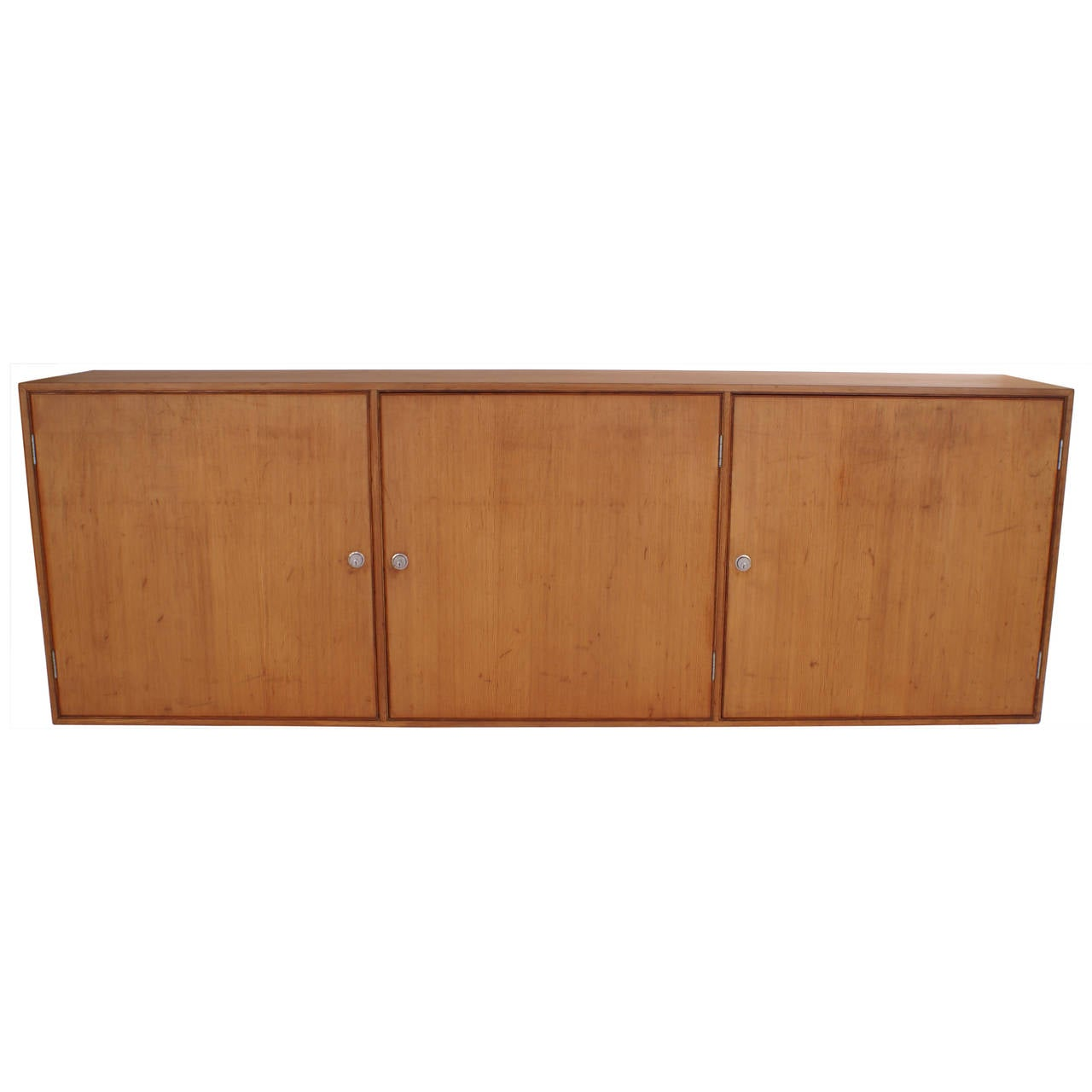 Poul Kjaerholm Wall-Hanging Cabinet in Oregon Pine for EKC For ...