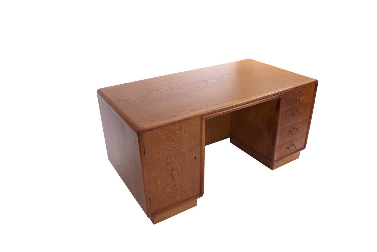 niels vodder freestanding desk in oak designed 1933 for