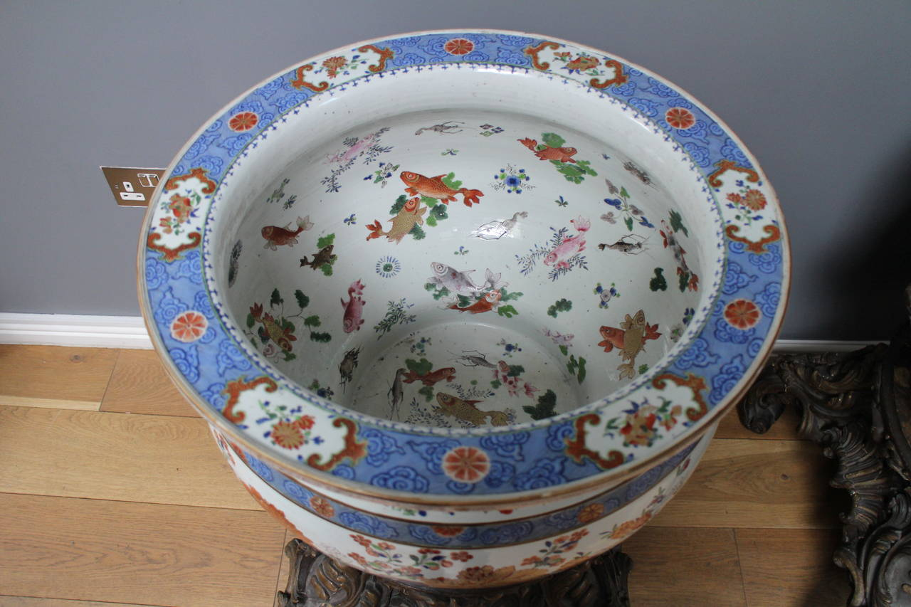 Pair Of Chinese Famille Rose Fish Bowls Jardini Res