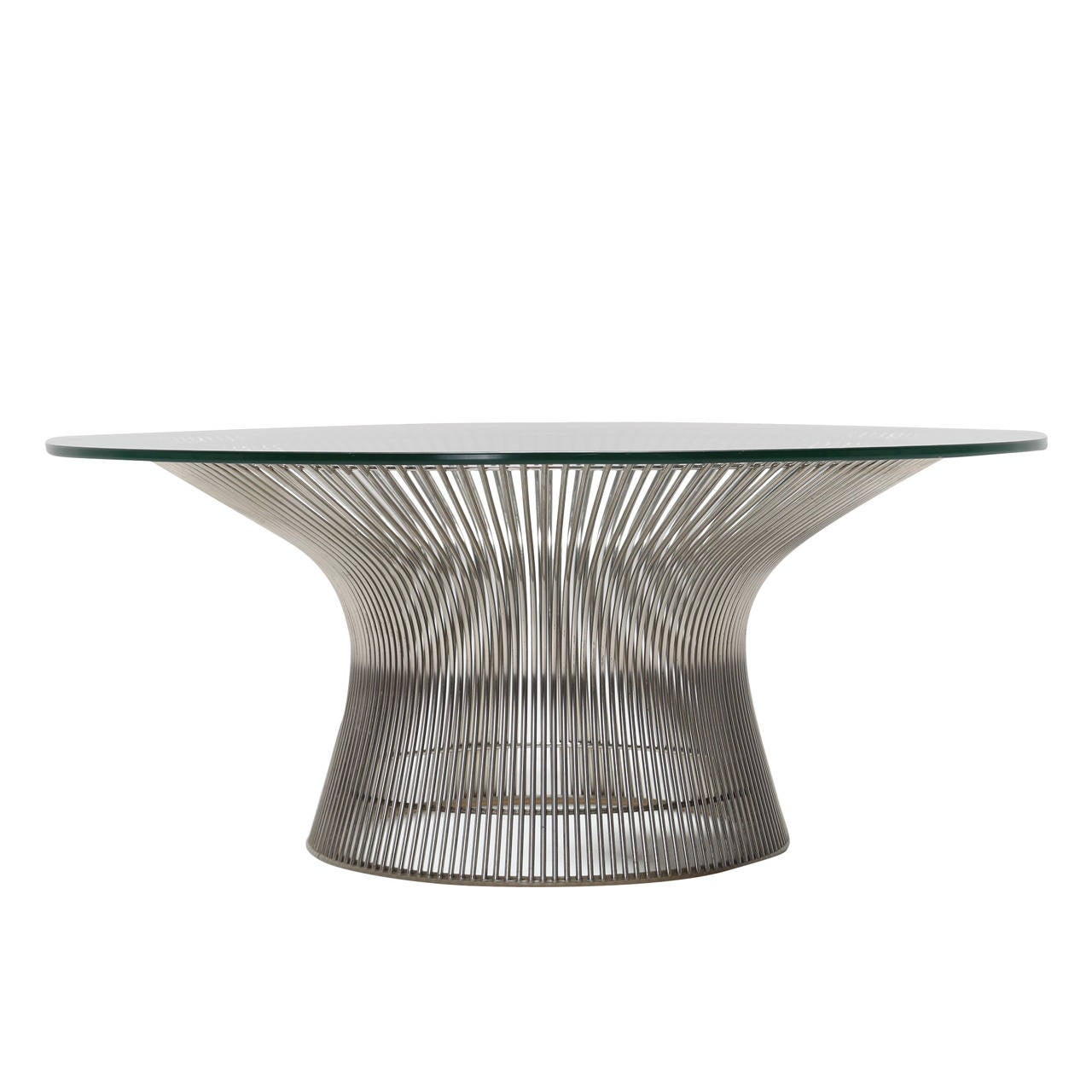this mid century chrome coffee table by warren platner is no longer