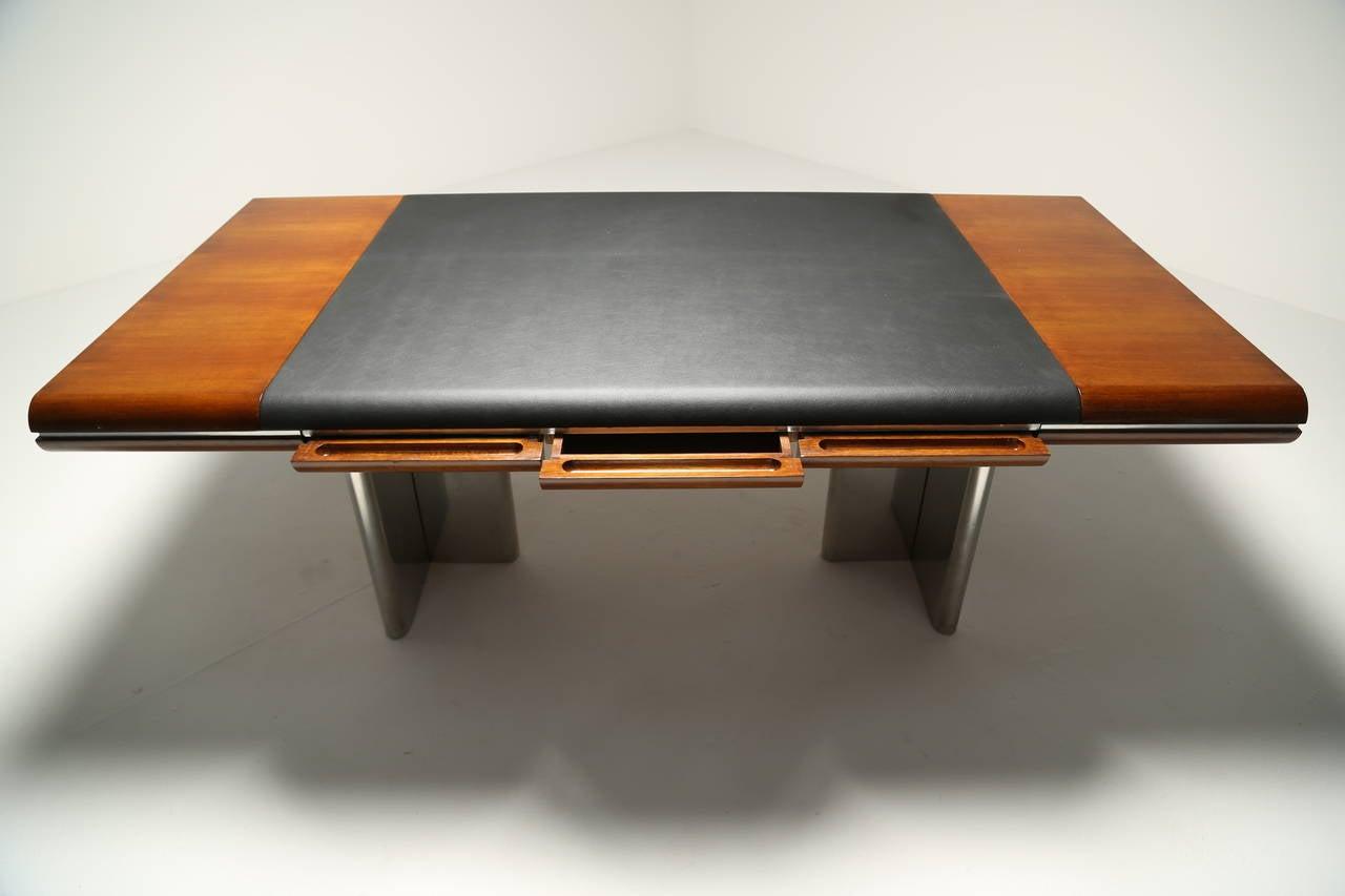 Bon Mahogany Hans Von Klier Vintage Executive Desk