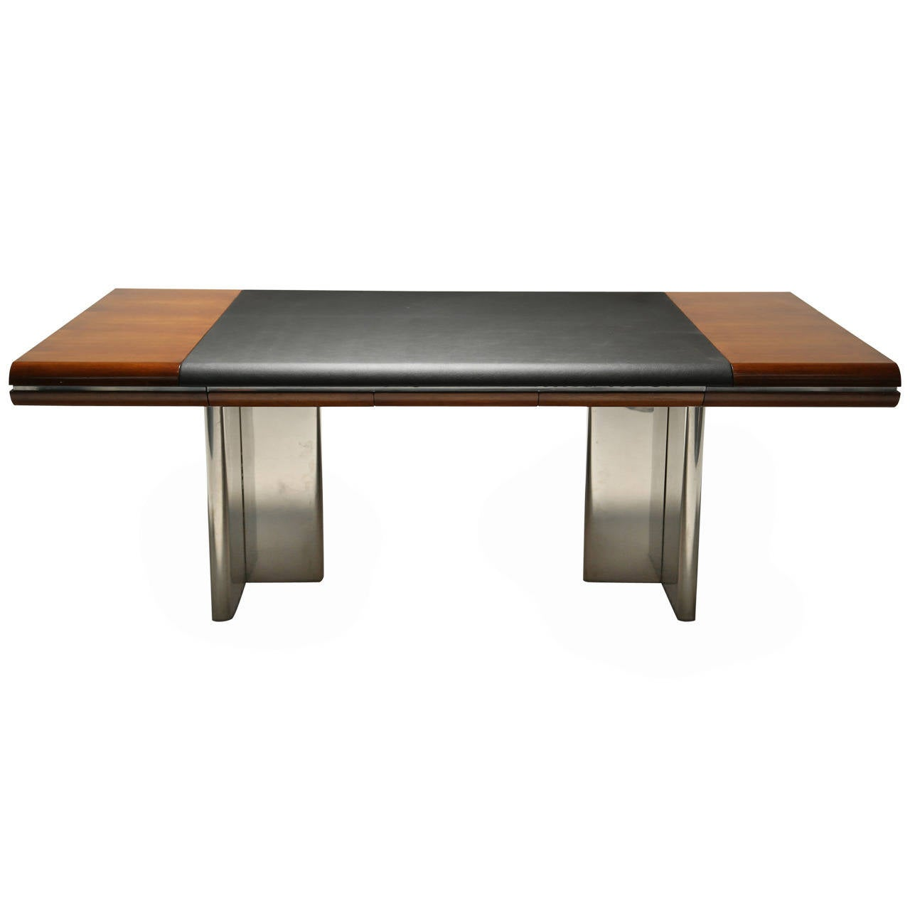 Mahogany hans von klier vintage executive desk at 1stdibs
