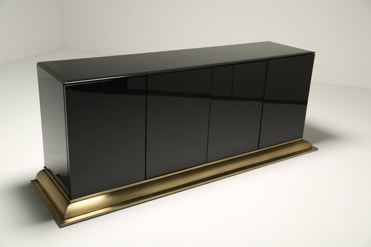 Mid century sideboard by ello at 1stdibs for Sideboard glas