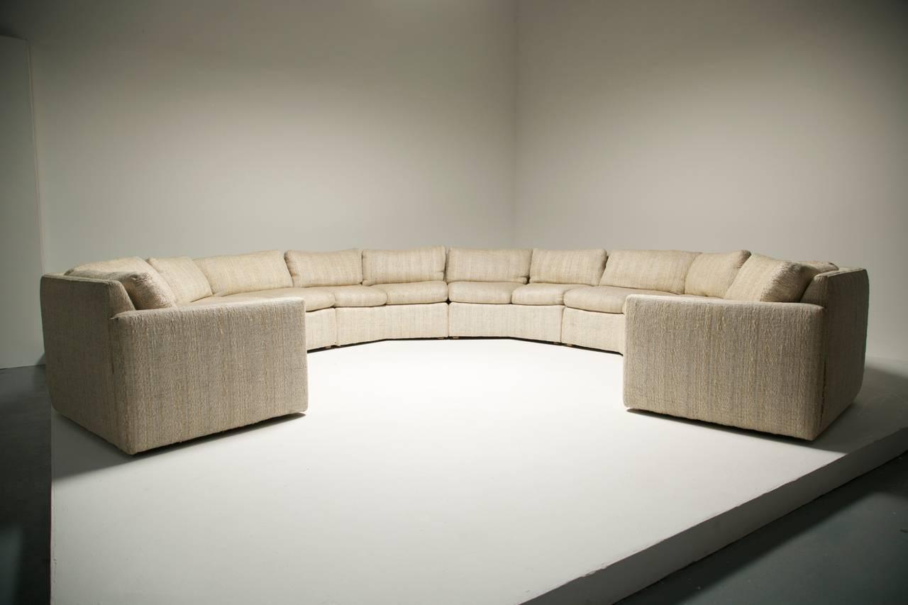 Cool Mid Century Hexagonal Sectional Sofa In The Style Of Milo Inzonedesignstudio Interior Chair Design Inzonedesignstudiocom