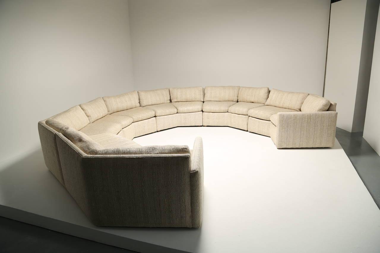 Magnificent Mid Century Hexagonal Sectional Sofa In The Style Of Milo Inzonedesignstudio Interior Chair Design Inzonedesignstudiocom