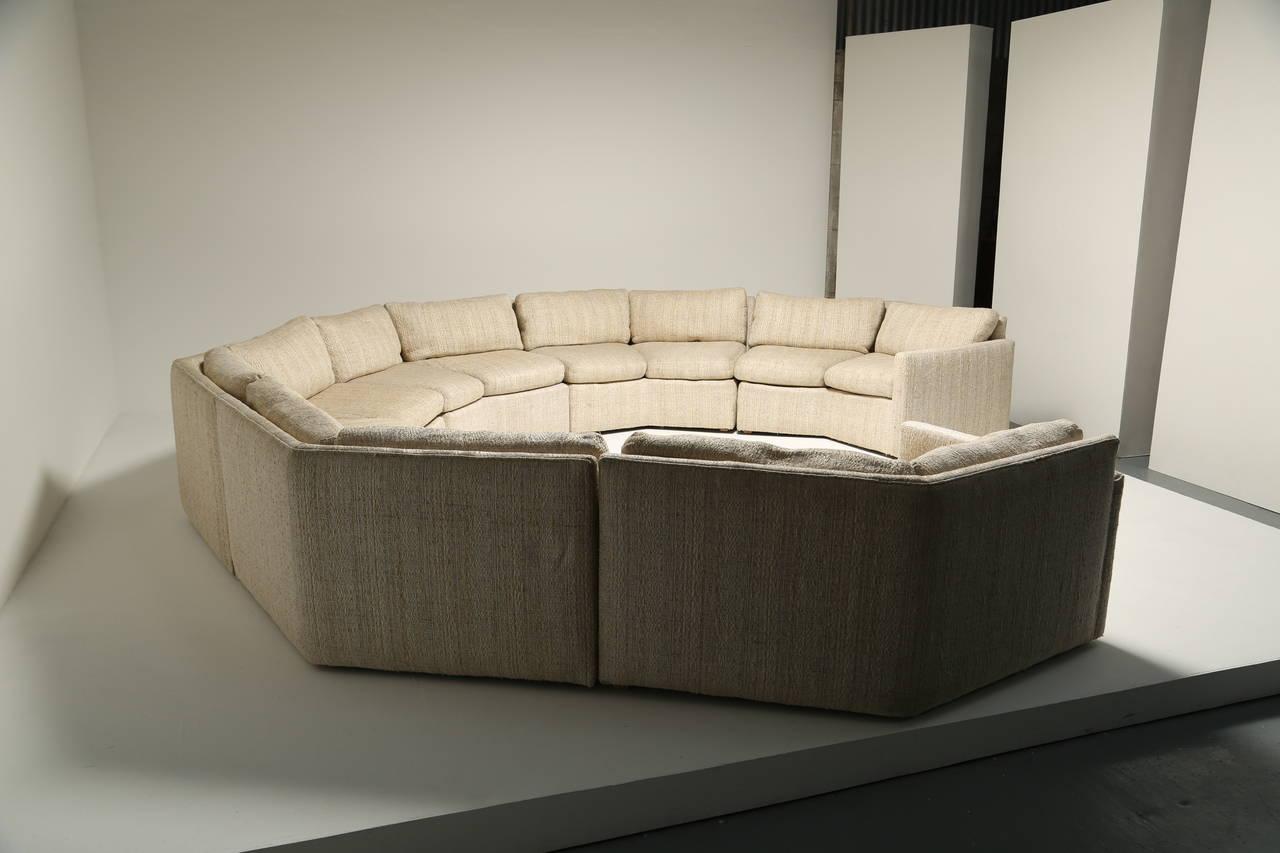 Pleasant Mid Century Hexagonal Sectional Sofa In The Style Of Milo Inzonedesignstudio Interior Chair Design Inzonedesignstudiocom