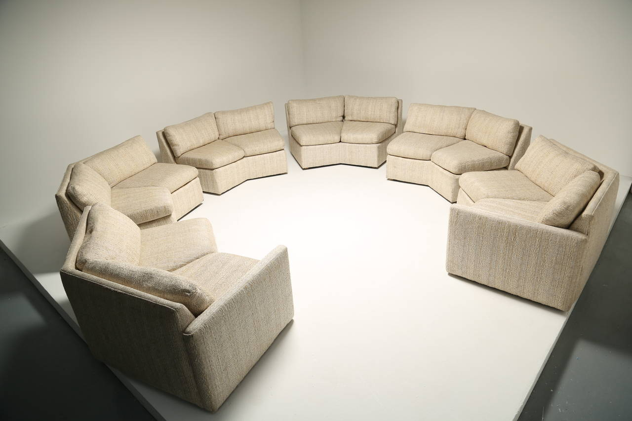 Mid Century Hexagonal Sectional Sofa In The Style Of Milo Baughman For Sale At 1stdibs