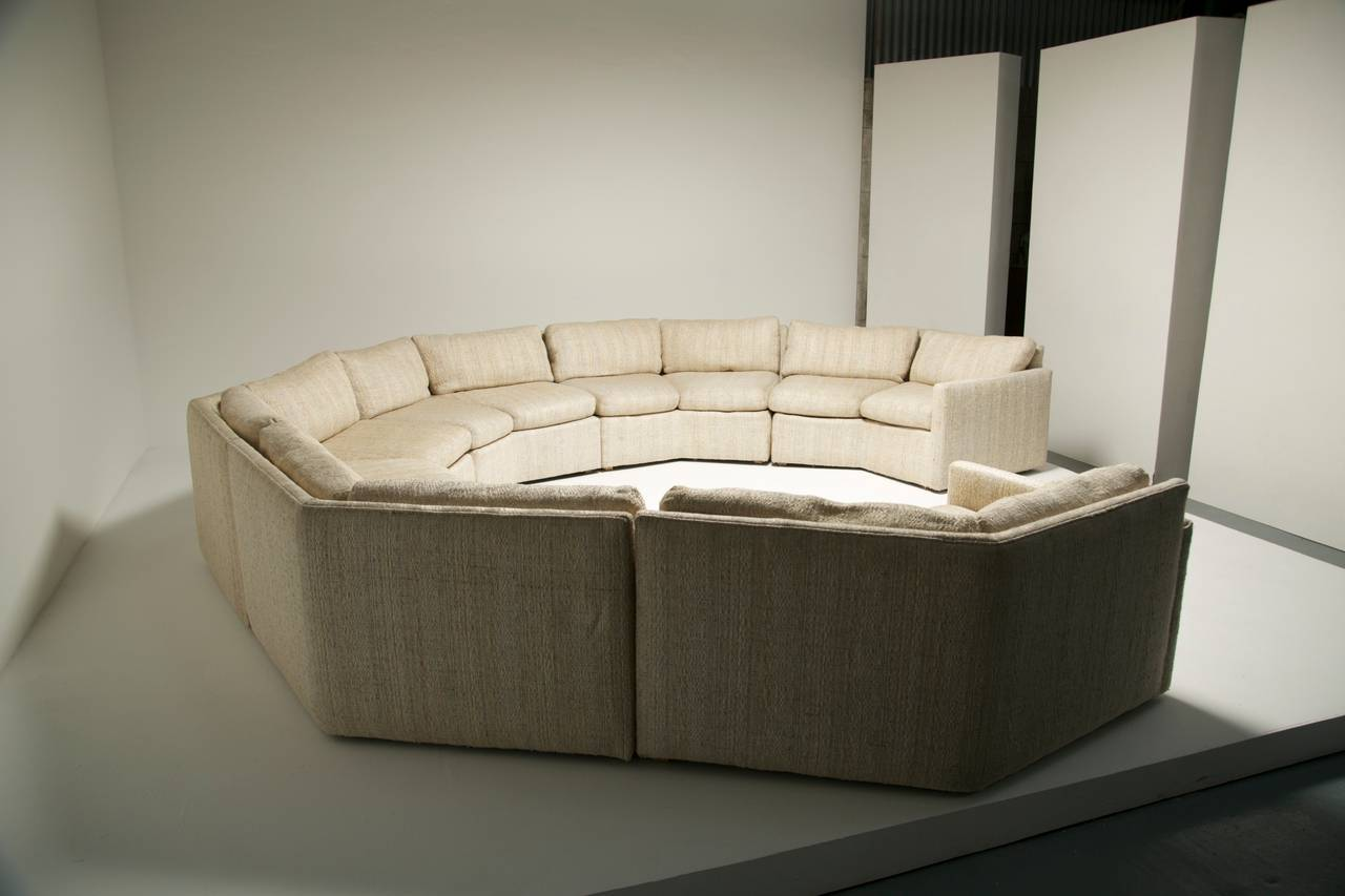 Mid Century Hexagonal Sectional Sofa In The Style Of Milo