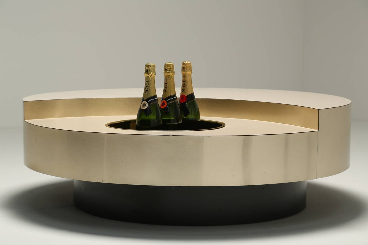 willy rizzo trg revolving coffee table at 1stdibs