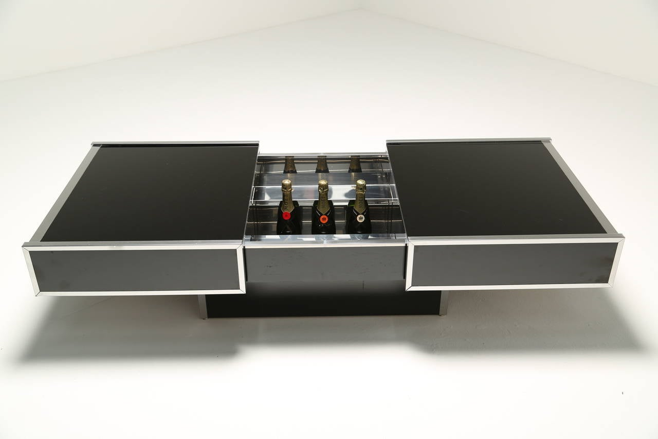 Maison Lancel Cocktail Or Coffee Table With Internal Bar At 1stdibs