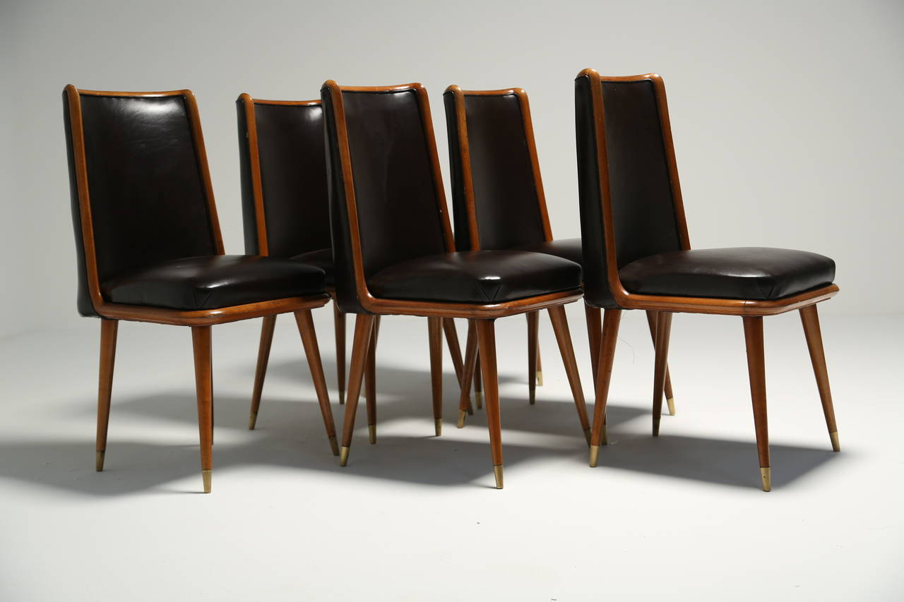 a set of six art deco style dining chairs 4 art deco dining 13