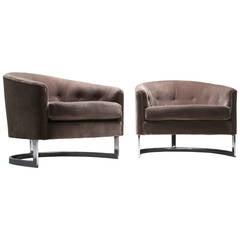 Milo Baughman Style Tub Chairs