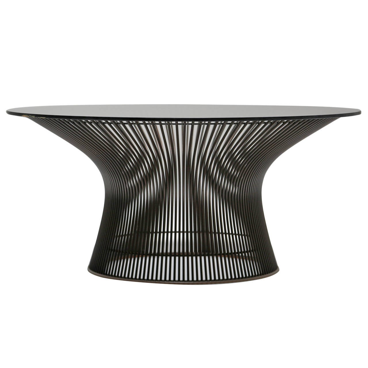 bronze warren platner coffee table for knoll international