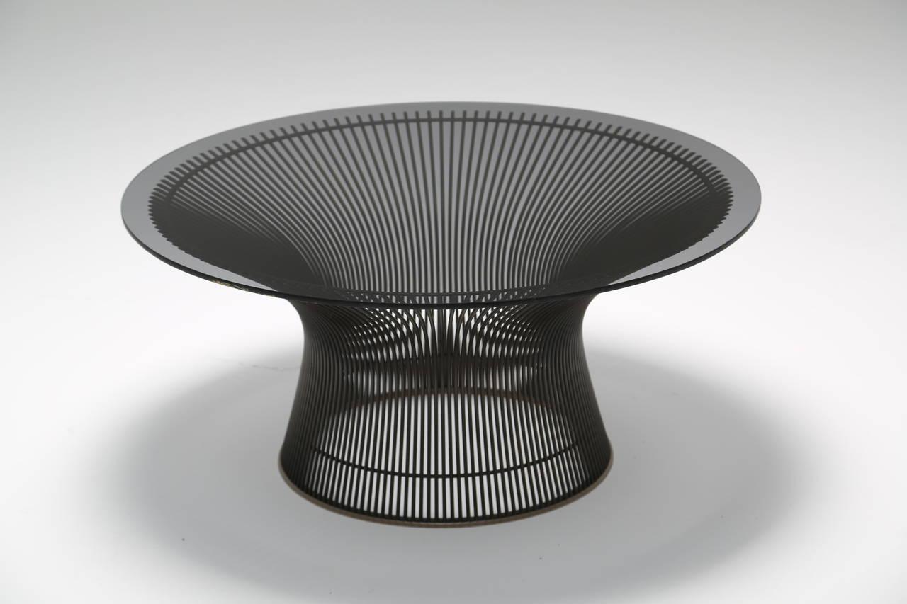Bronze Warren Platner Coffee Table For Knoll International At 1stdibs