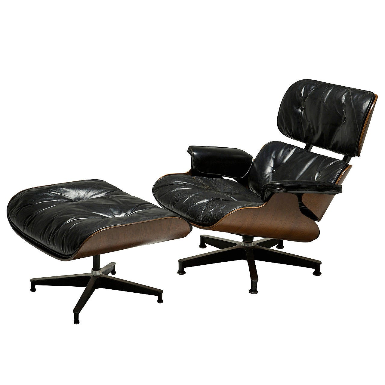 mid century eames lounge chair and ottoman at 1stdibs. Black Bedroom Furniture Sets. Home Design Ideas