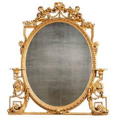 Antique Gilt Over-Mantel Mirror