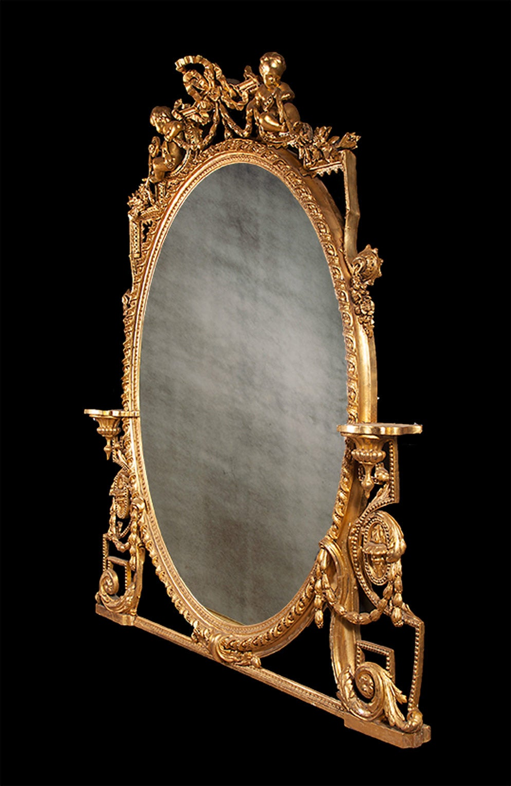 Antique Gilt Over Mantel Mirror At 1stdibs