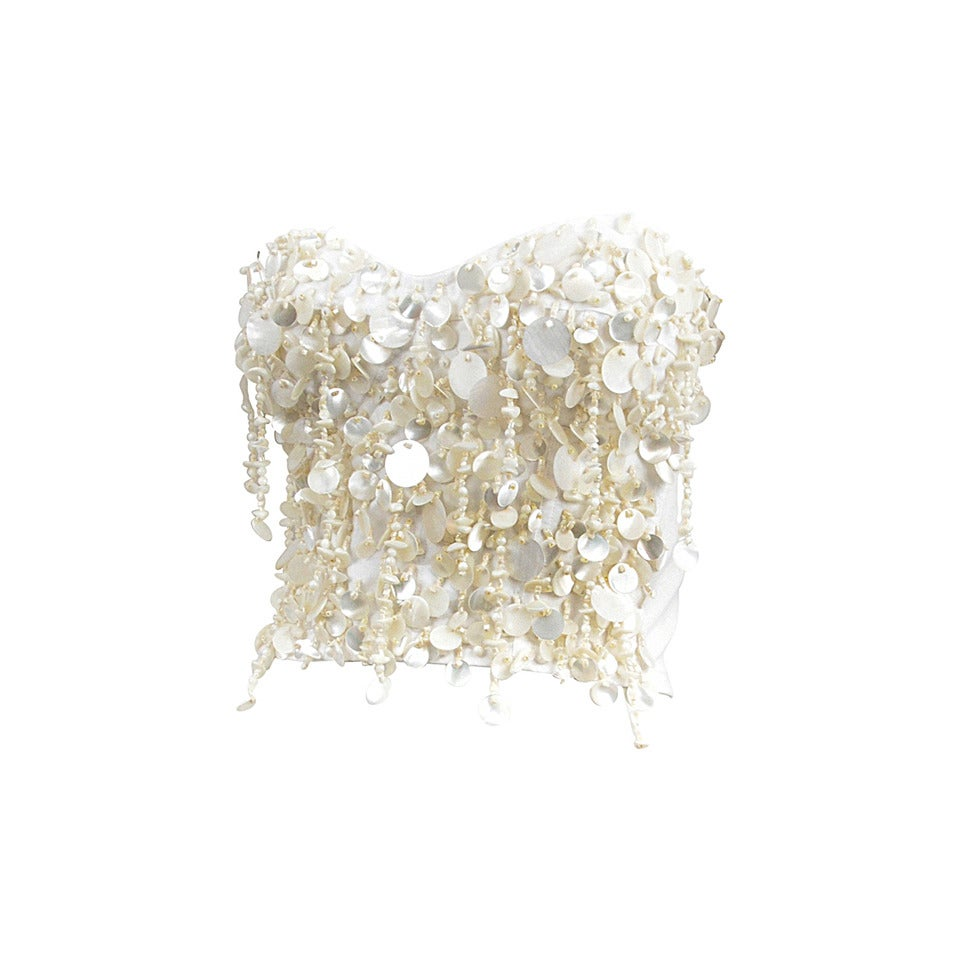 Dolce and Gabbana Beaded Shell Bustier 1