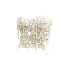 Dolce and Gabbana Beaded Shell Bustier