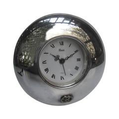 Gucci Silver Plated Desk Clock c 1980
