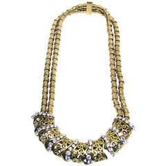 Verger Freres Diamond Yellow Gold Necklace