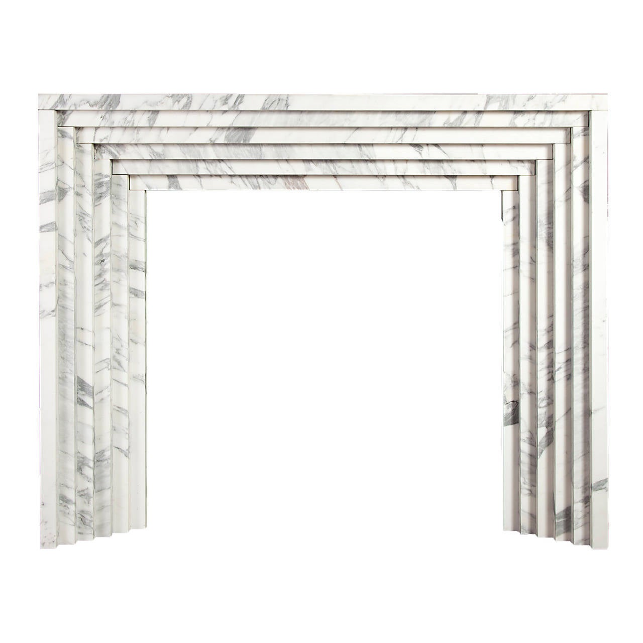 Reproduction Art Deco Marble Fireplace At 1stdibs