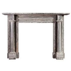 Grey Bardiglio Antique Marble Fireplace