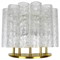 Ice Glass Tube Wall Lamp Light Sconce by Doria, 1960s