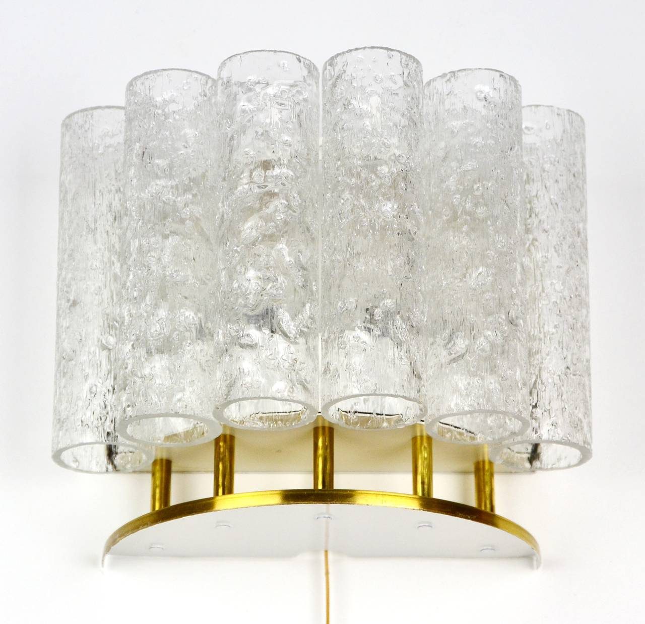Glass Tube Wall Lights : Ice Glass Tube Wall Lamp Light Sconce by Doria, 1960s For Sale at 1stdibs