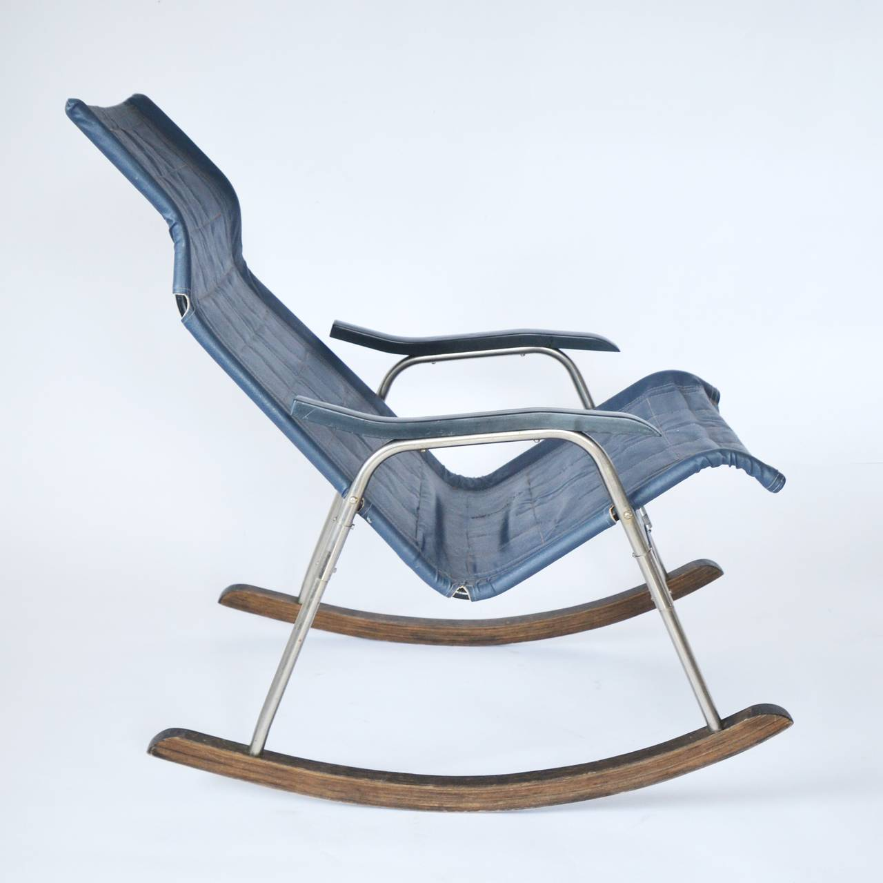 Rocking Chair, Foldable, 1970s For Sale at 1stdibs