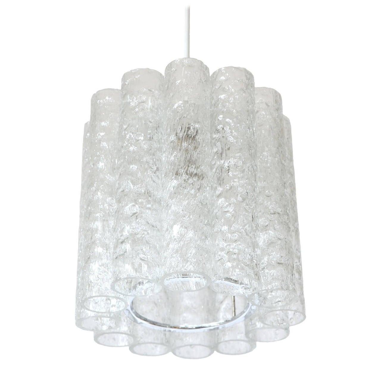 Doria Glass Pendant Light 1970s At 1stdibs