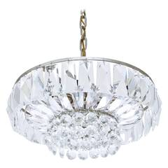 Crystal Glass Chandelier by Bakalowits & Sohne, Vienna, 1960s
