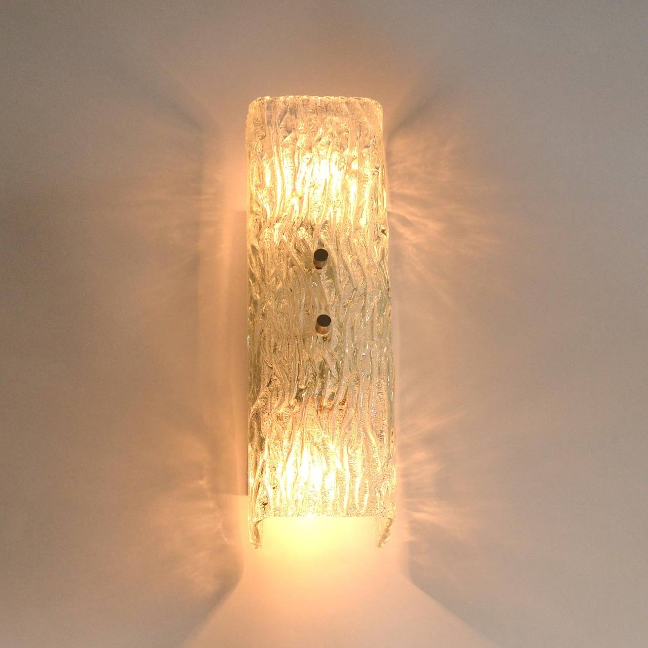 Mid-20th Century Pair of Kalmar Glass Sconces or Wall Lights, 1950s For Sale