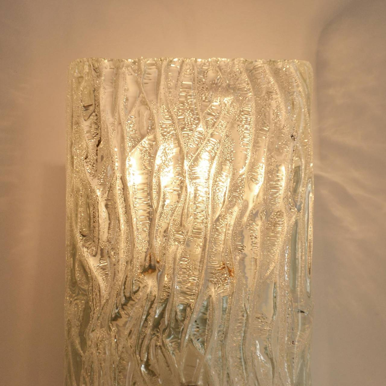 Pair of Kalmar Glass Sconces or Wall Lights, 1950s For Sale 1