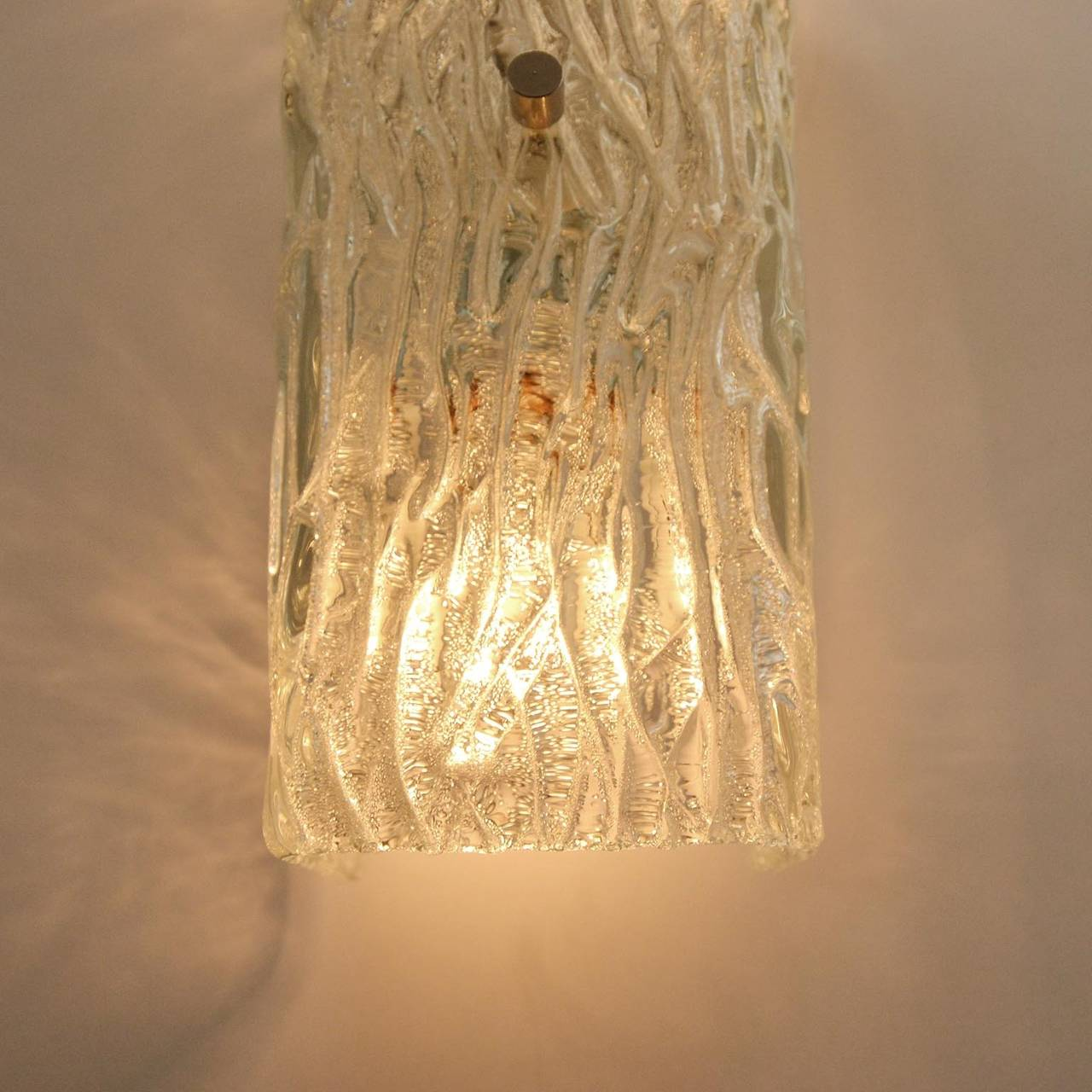Pair of Kalmar Glass Sconces or Wall Lights, 1950s For Sale 2