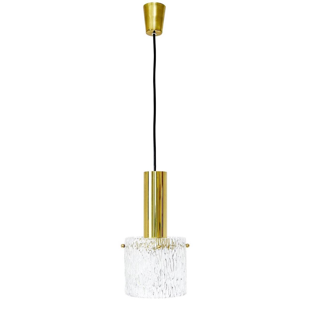 brass pendant lighting. set of three glass and brass pendant lights by kalmar austria 1950s 3 lighting